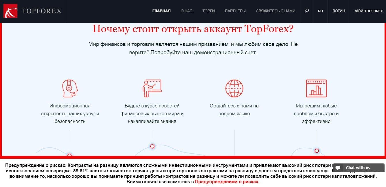 topforex открыть аккаунт