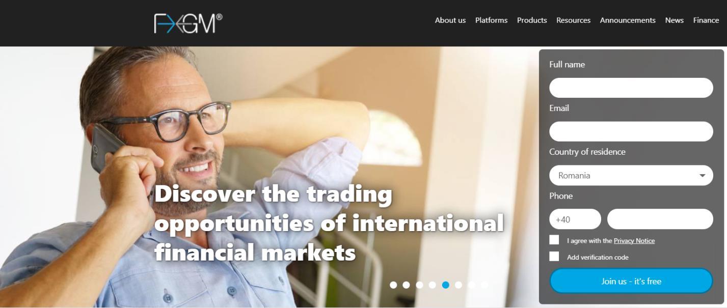 официальный сайт брокера fxgm