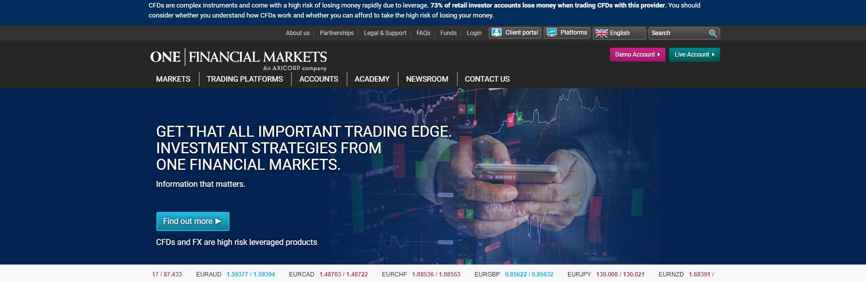 one financial markets официальный сайт обзор