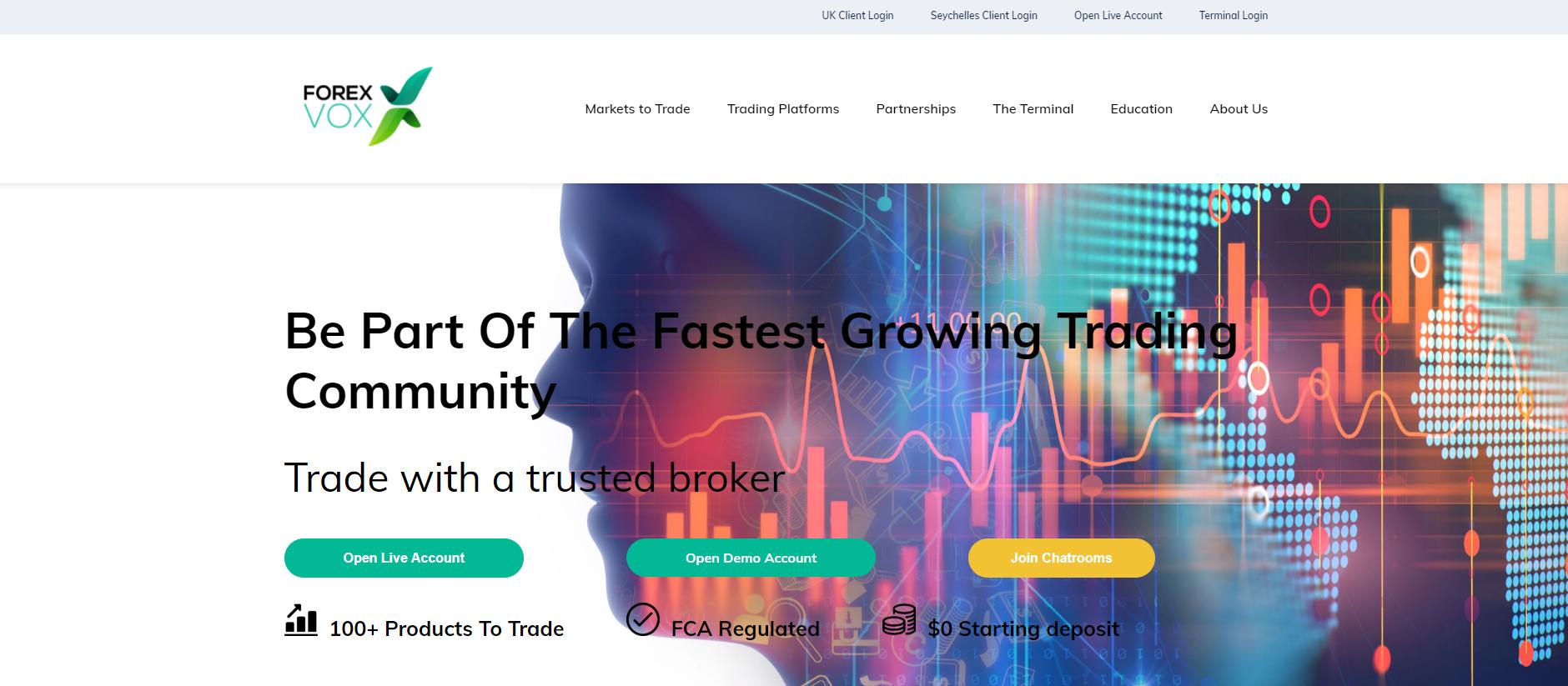 обзор официального сайта forexvox